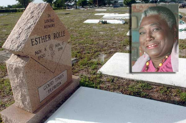 Esther Rolle Grave Pictures South Florida Grave Sites Of The