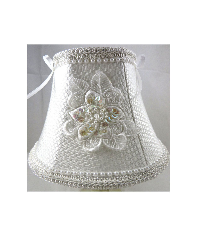 Silk chandelier lamp shade bell shape silk lampshade white pearl silk chandelier lamp shade bell shape silk lampshade white pearl trim sequins arubaitofo Gallery