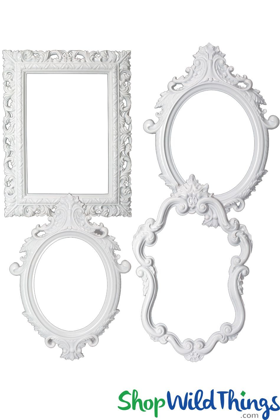 Photo Prop Large Picture Frames White Plastic Set Of 4 Large Picture Frames White Picture Frames Photo Frame