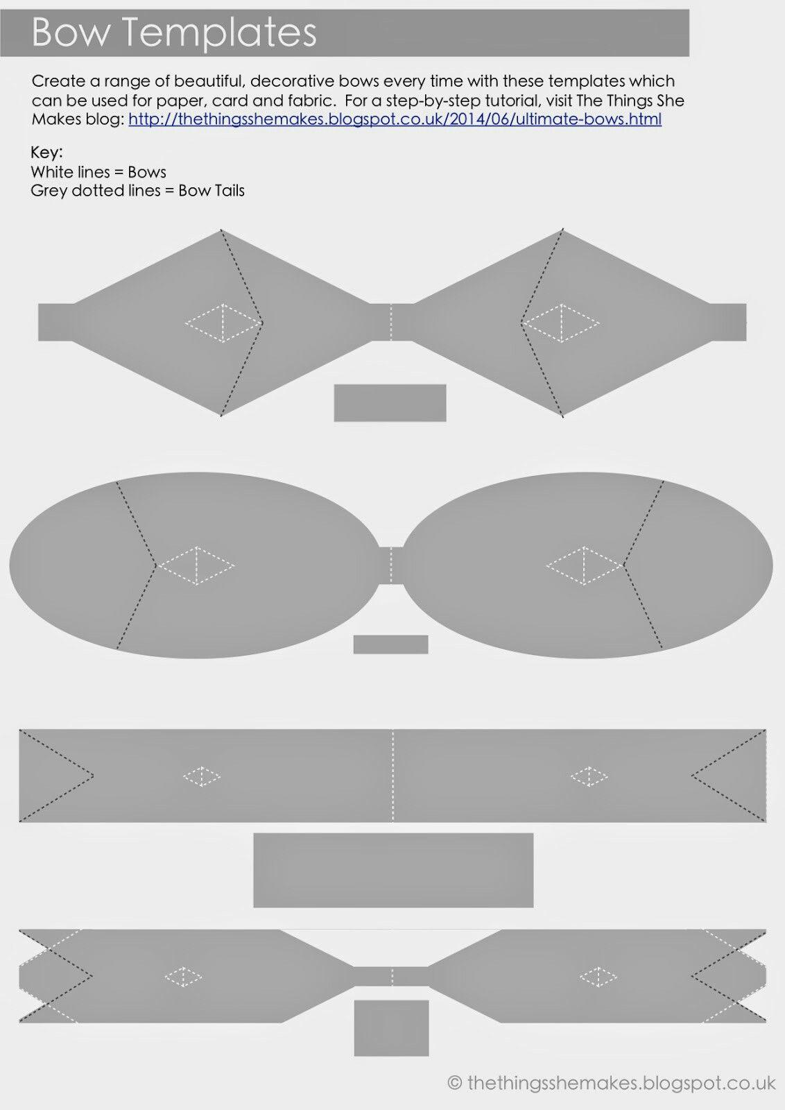 felt bow tie template - moldes varios para lazos lazos pinterest molde y varios