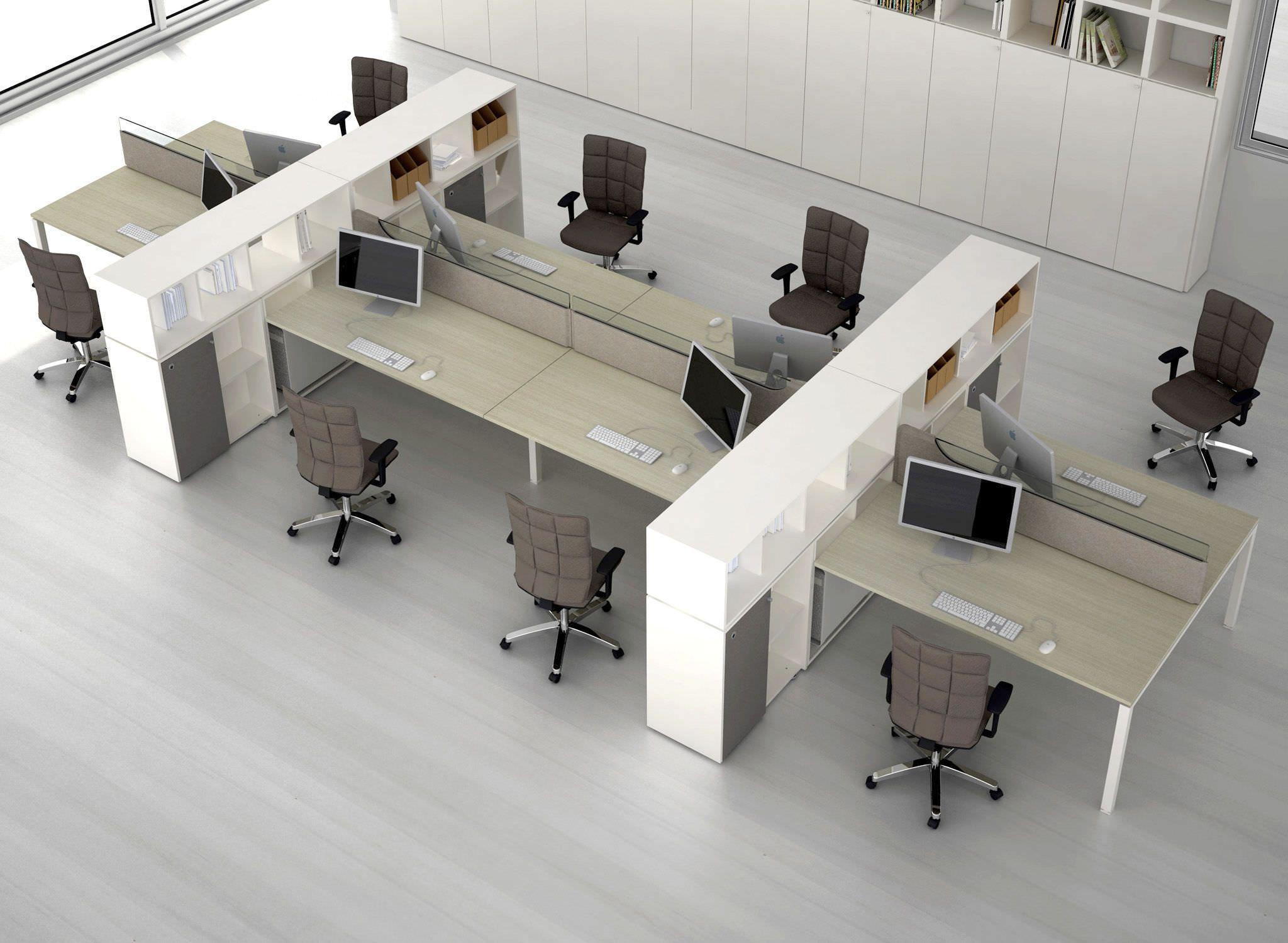 Workstation Desk Contemporary In Wood Modular Joint By Alberto Stella Estel