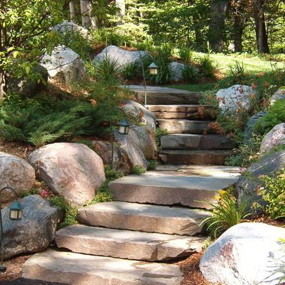 Best Beautiful Wooded Path Uphill Garden Stairs Traditional 400 x 300