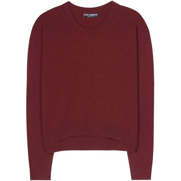 Dolce   Gabbana Cashmere Sweater (€885) ❤ liked on Polyvore featuring tops, 2c9e691b43b2