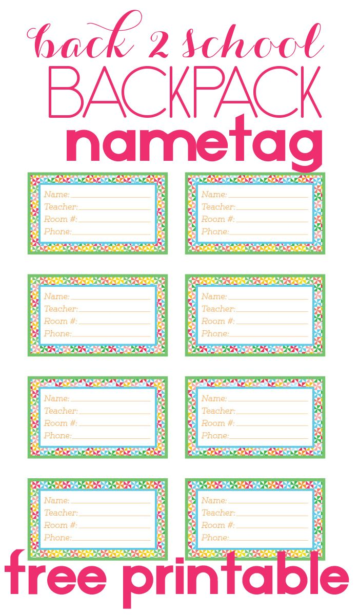Back To School Backpack Name Tag Pinterest Backpacks Stuffing And School
