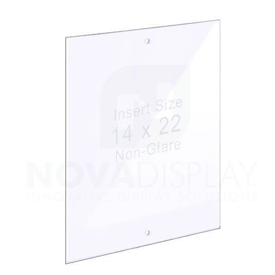 1 8 Non Glare Acrylic Panel For Info Post Display Stands With Holes For M8 Studs Acrylic Panels Display Stand Poster Frame