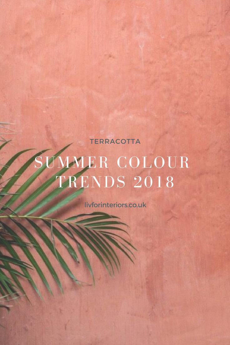 Peinture Couleur Terre Cuite summer colour trends 2018: terracotta - #2018 #colour