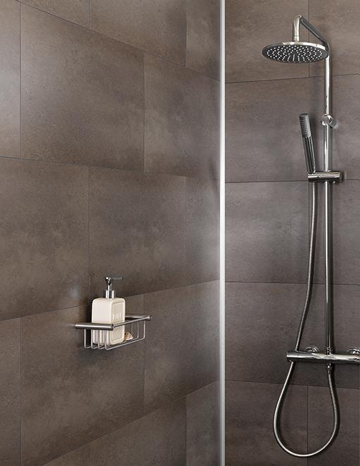 Waterproof Bathroom Wall Panels: Marron Solid Bathroom Wall Tile In 2020