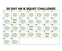 photo about 30 Day Squat Challenge Printable identified as 30 Working day Ab and Squat Problem with Printable Calendar