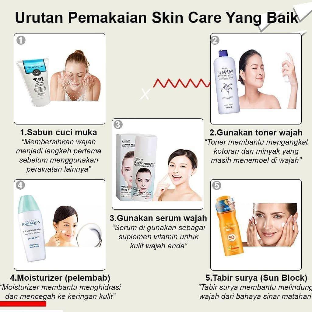 Pin di skincare routine