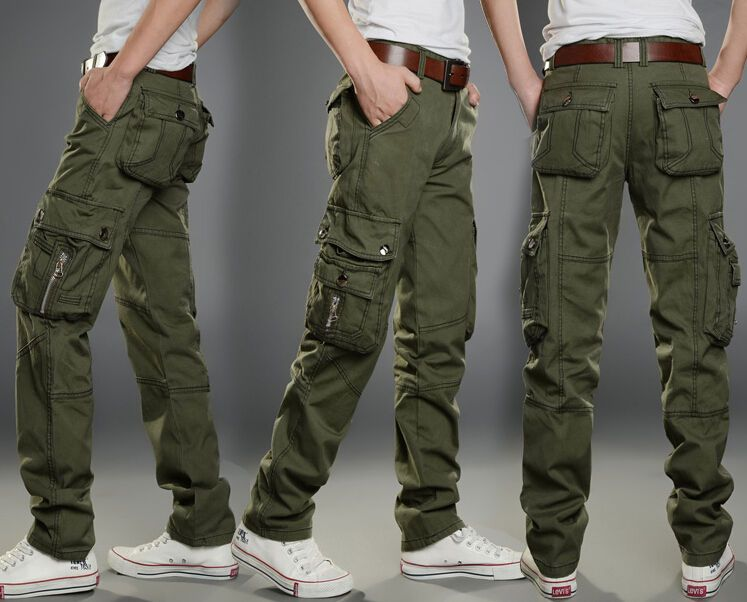 New Mens Tactical Overalls Pants Pocket Military Leisure Cargo Combat Trousers Ropa De Senderismo Pantalones De Combate Pantalones De Hombre Moda