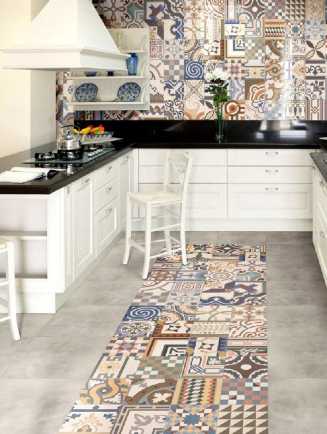 Patchwork Pattern Kitchen porcelain tiles | DECORATION | Pinterest ...