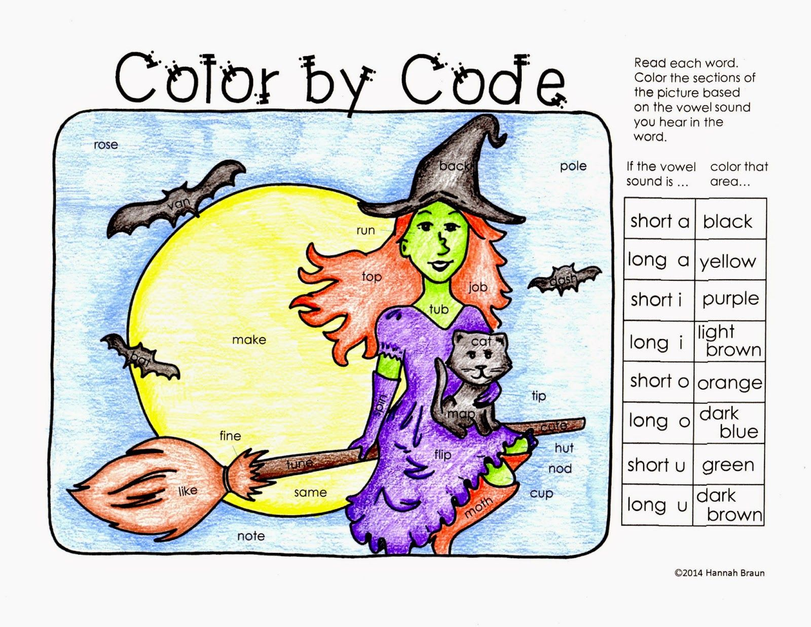 Halloween Color By Code