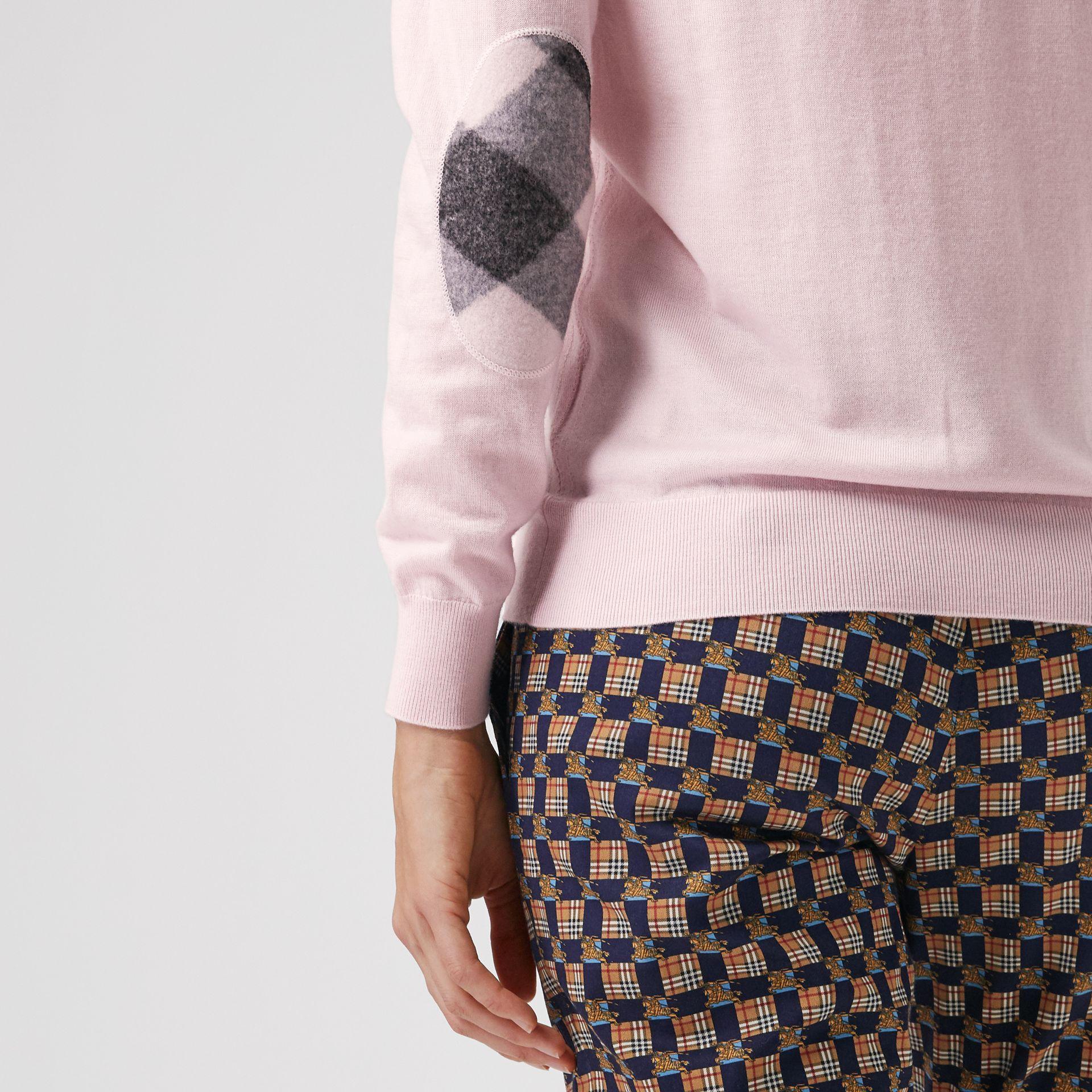 fac08f854265 Check Elbow Detail Merino Wool Sweater in Light Pink - Women en 2018 ...