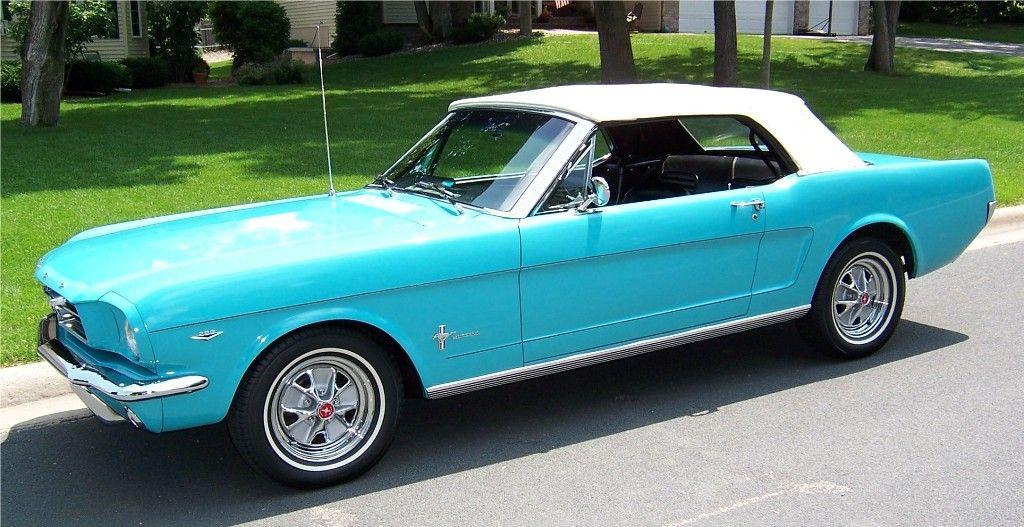 Old Aqua Blue Mercedes Convertible