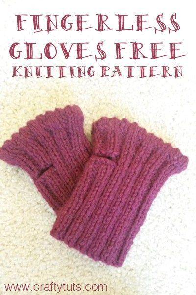 Short Fingerless Gloves Free Knitting Pattern Easy Knitting