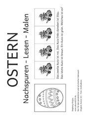 ostern nachspuren lesen malen ostern easter kindergarten und school. Black Bedroom Furniture Sets. Home Design Ideas