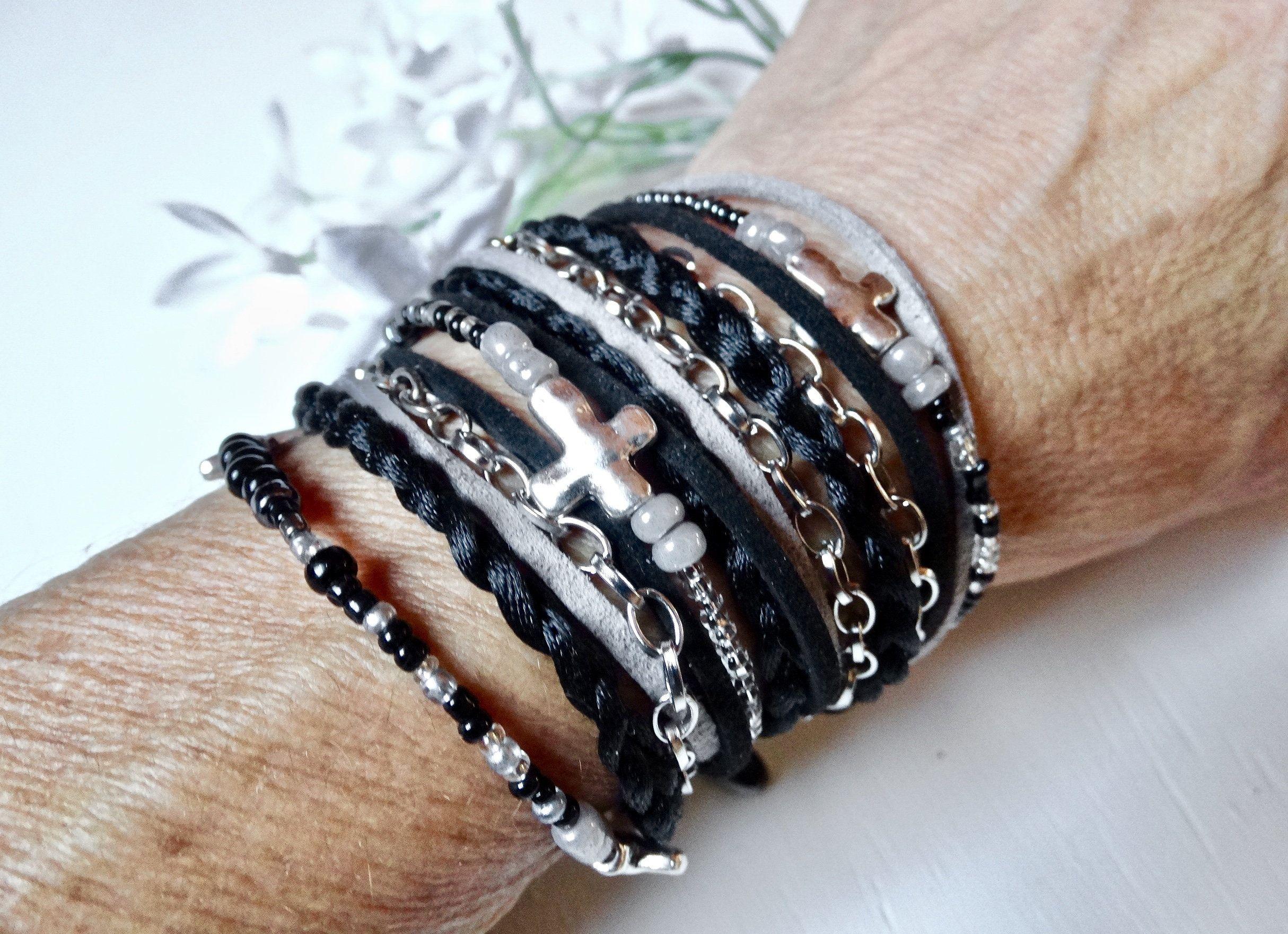 Cross Wrap Bracelet Beaded