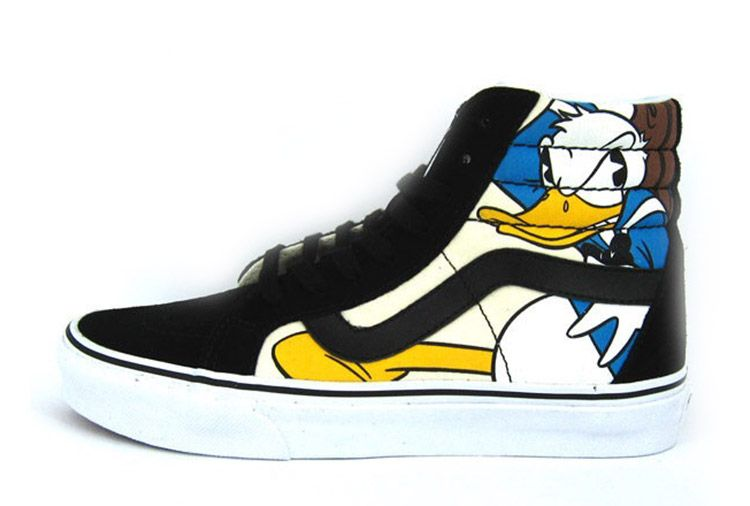 0a7fb367e7 Disney X Vans SK8 Hi Donald Duck Mickey Mouse Skate Shoes  Vans ...