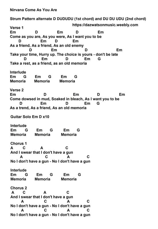 Songs With Chords & Strum Patterns – creepy 1324