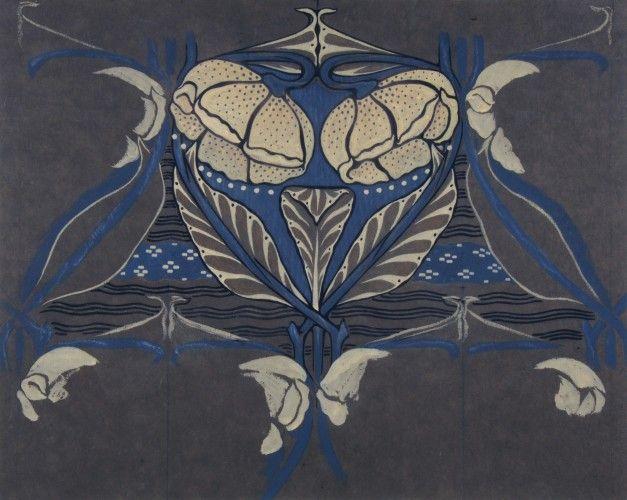 Floral design Arthur Heygate Mackmurdo (1851 - 1942)