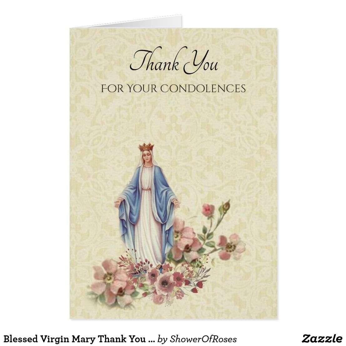 Blessed virgin mary thank you condolences