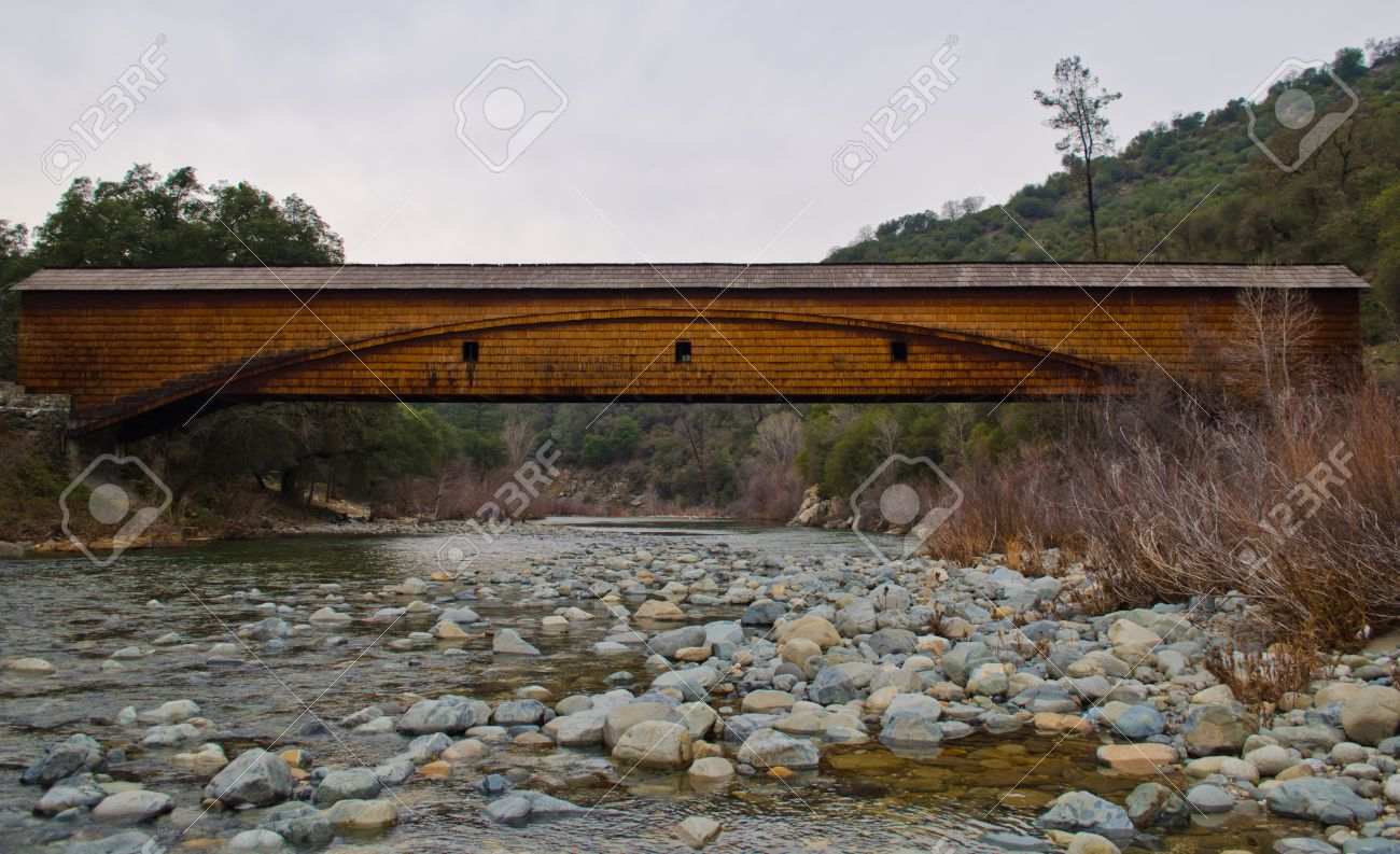 Bridgeport Covered Bridge Near Grass Valley, California