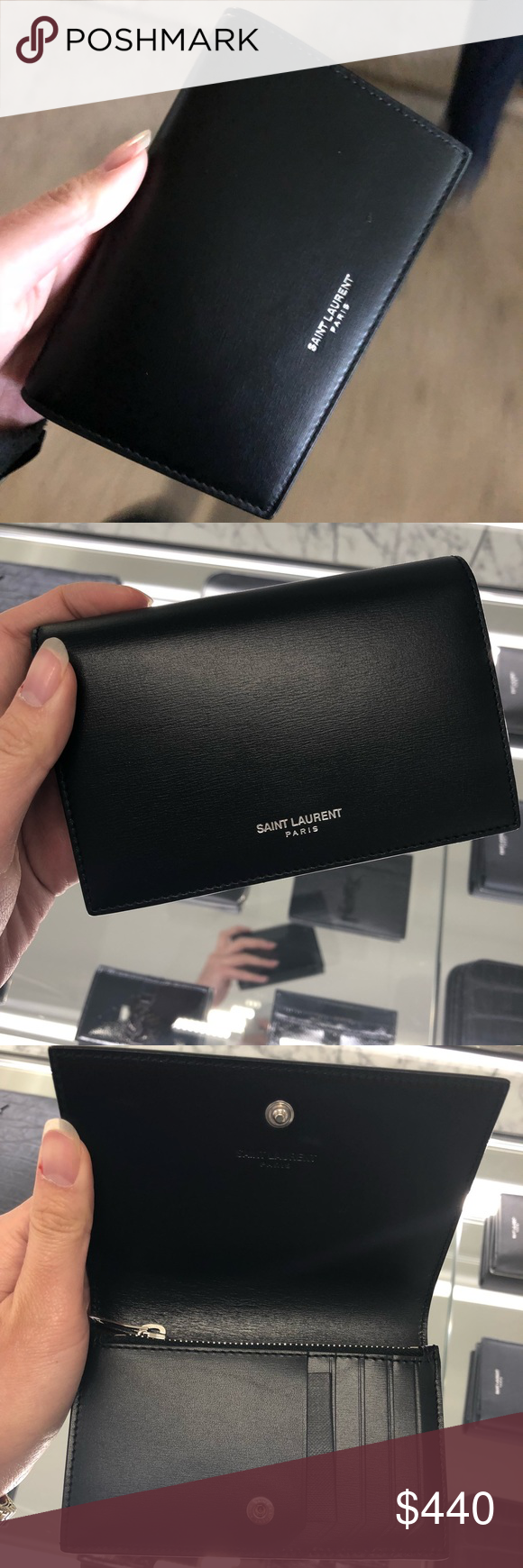 a833285510 YSL Fragments Flap Wallet Never used. Have original packaging box ...