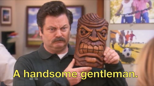Ron Swanson S 15 Most Enlightening Gifs From Parks And Recreation Season 5 Parks N Rec Parks And Recreation Ron Swanson