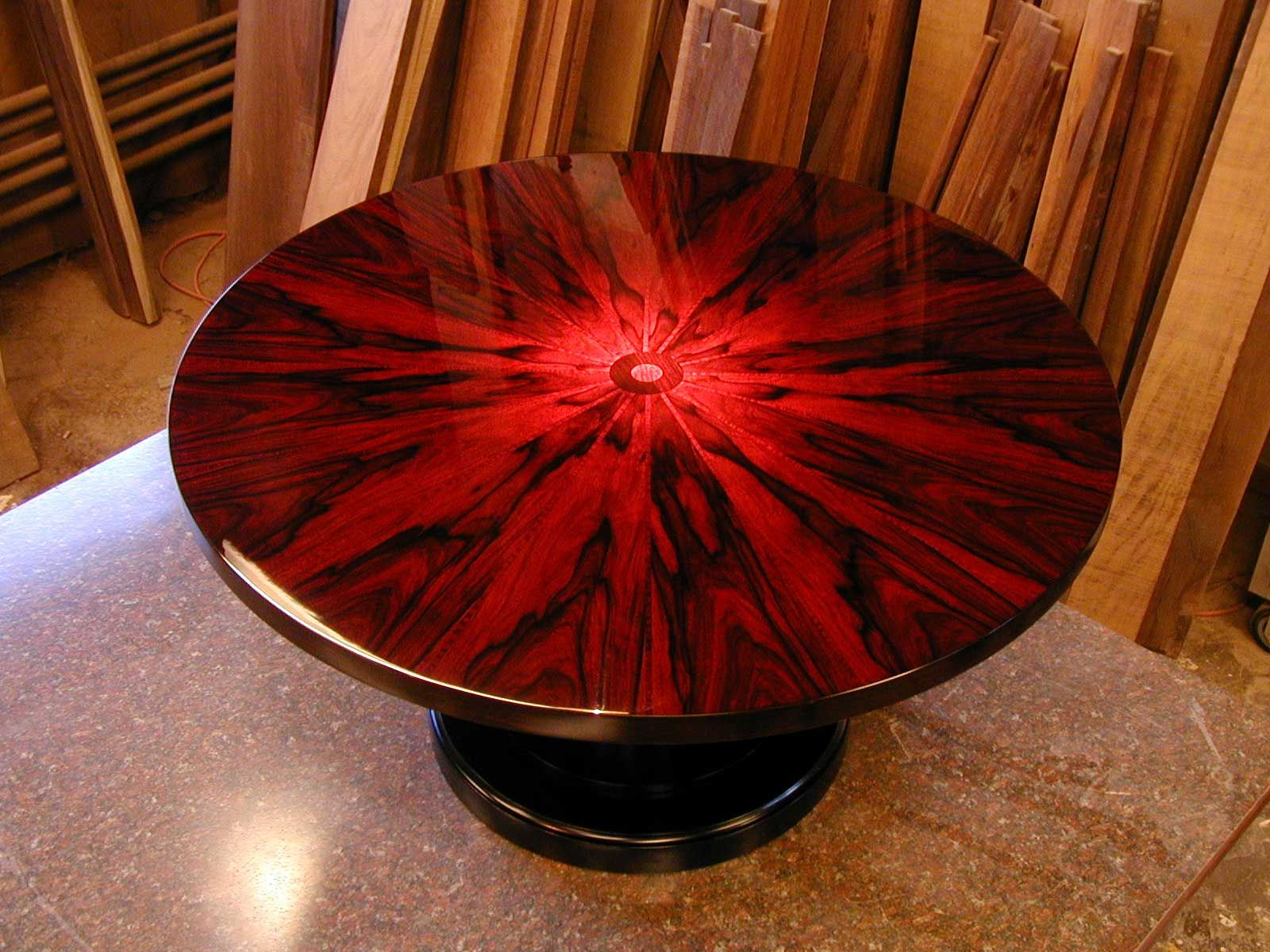 Complete Brazilian Rosewood Table. Talk About No Expenses Spared... Must  Have Cost A Fortune!