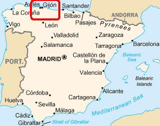 Gijon Spain Map.Picture Of Gijon Asturias Spain Google Search Places I Want