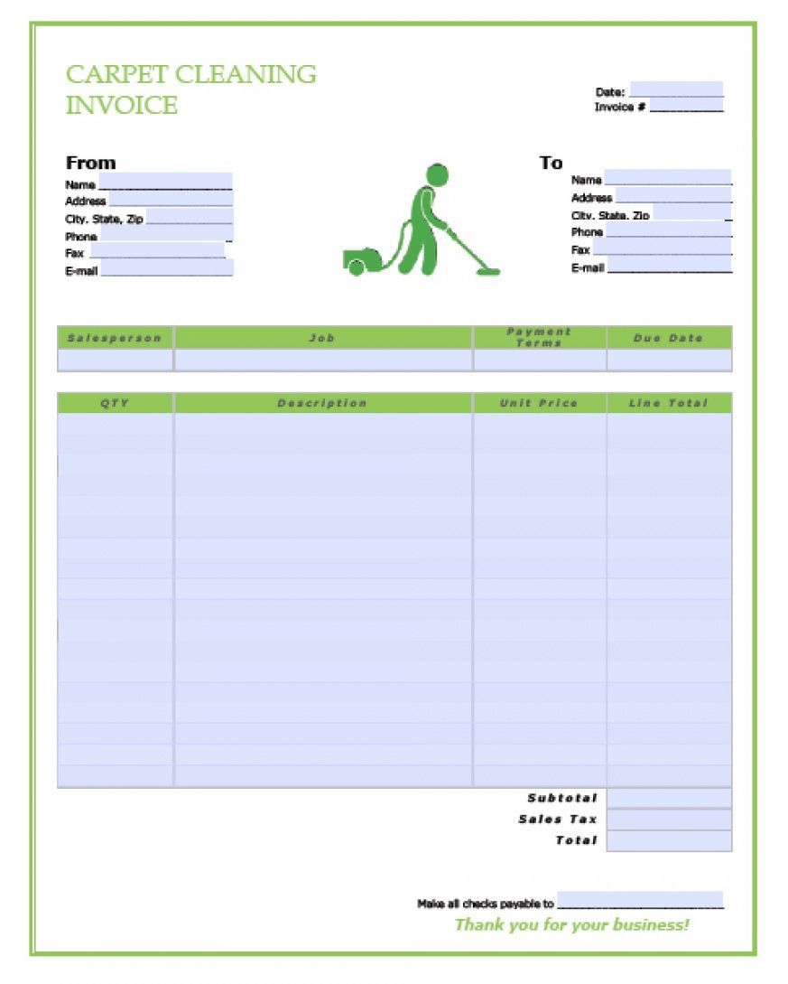 Carpet Cleaning Proposal Template Invoice Template Estimate Template Invoice Template Word