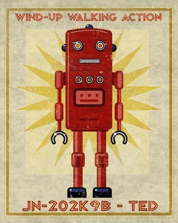 Ted the Robot | Cute robots, art and concepts | Pinterest | Robot ...