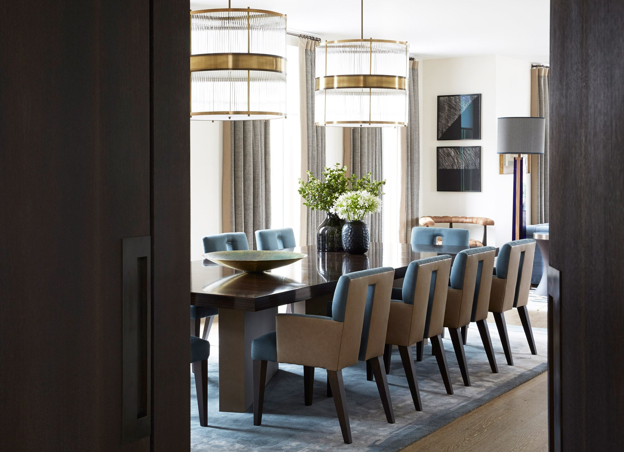 Penthouse contemporary dining room North Knightsbridge: Helen Green ...