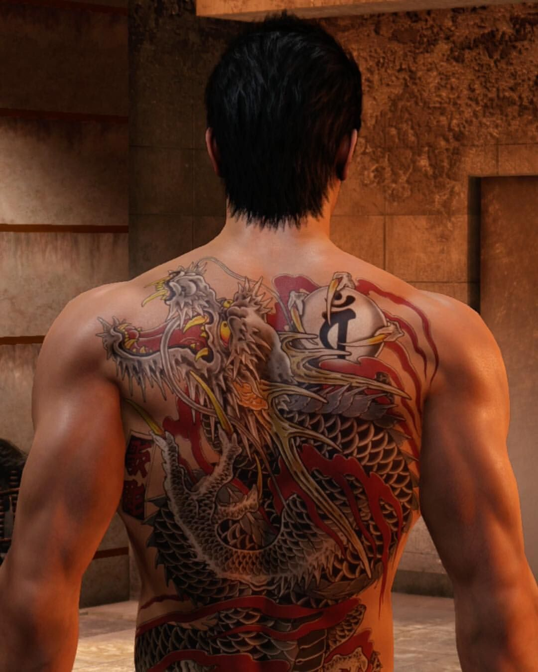 A closer look at the intricacies of Kiryu's tattoos