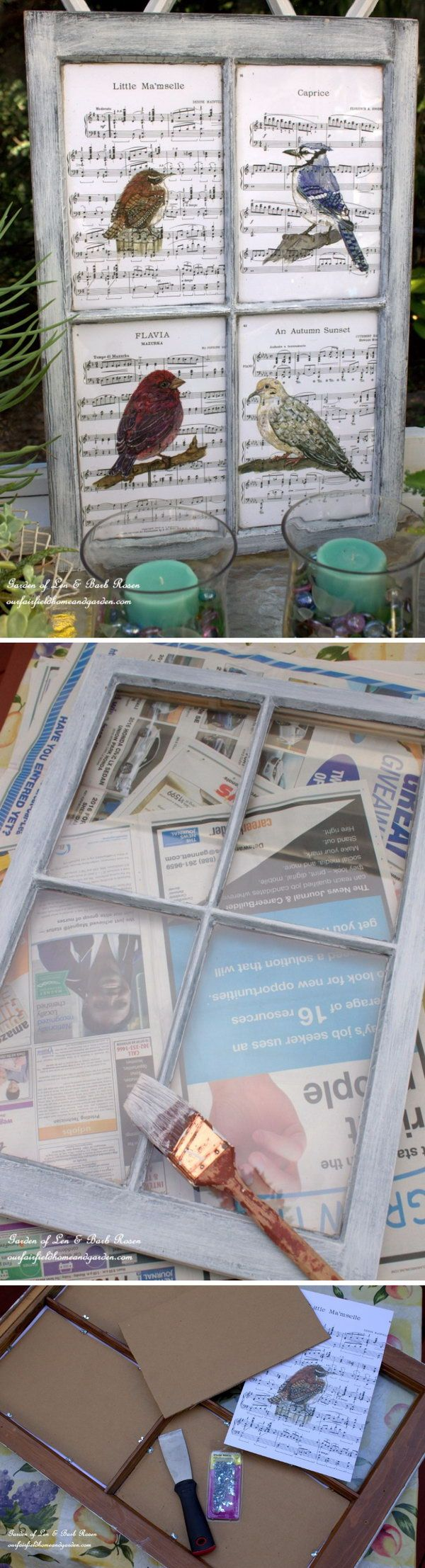 Shabby Chic Recycled Picture Frame.