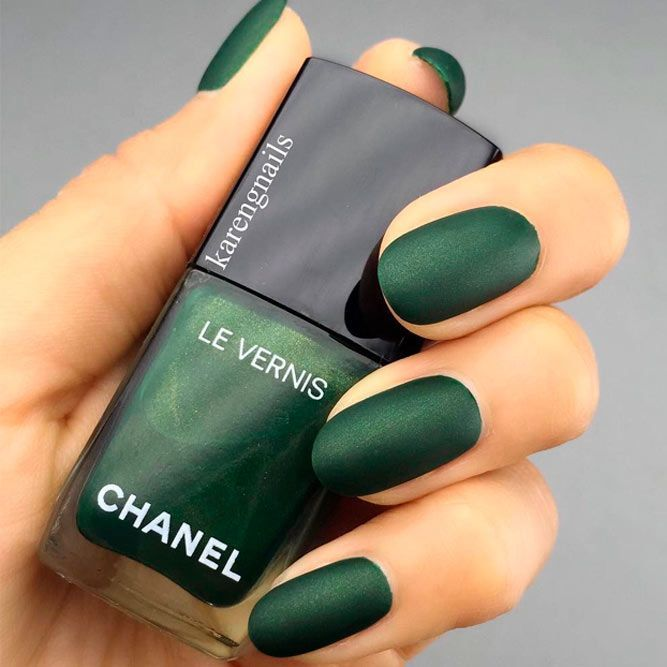 21 Matte Nails in Trendy Colors of Fall/Winter 2018-2019