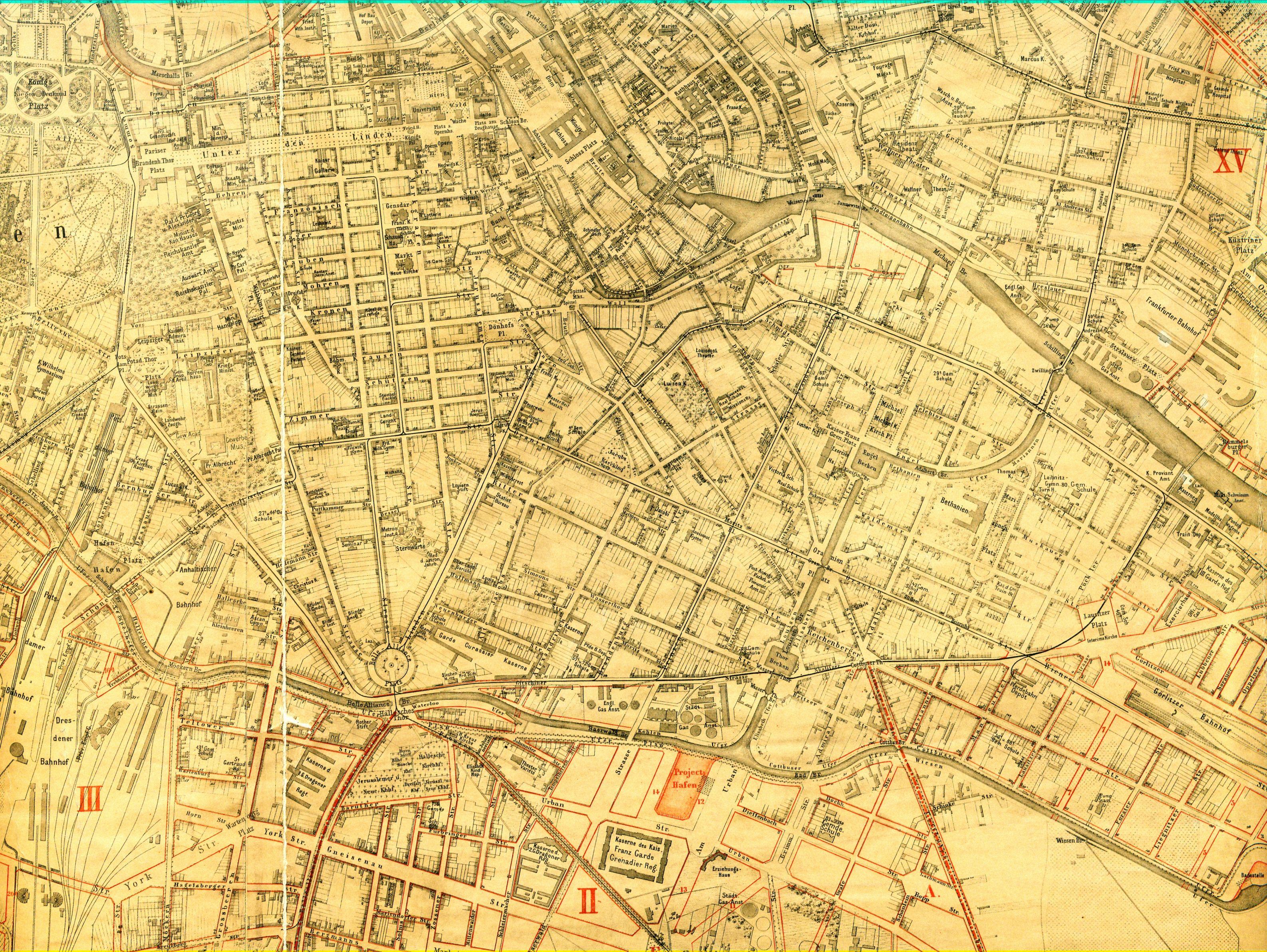 Sineck Situations-Plan von Berlin 1882 IV.
