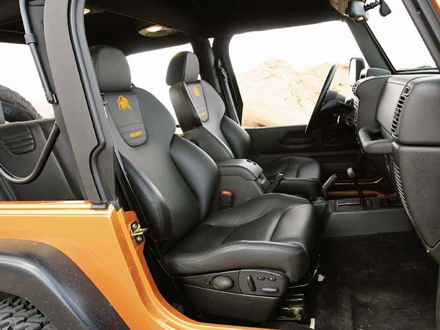 Custom Jeep Seats 2004 Jeep Wrangler Tj Interior View