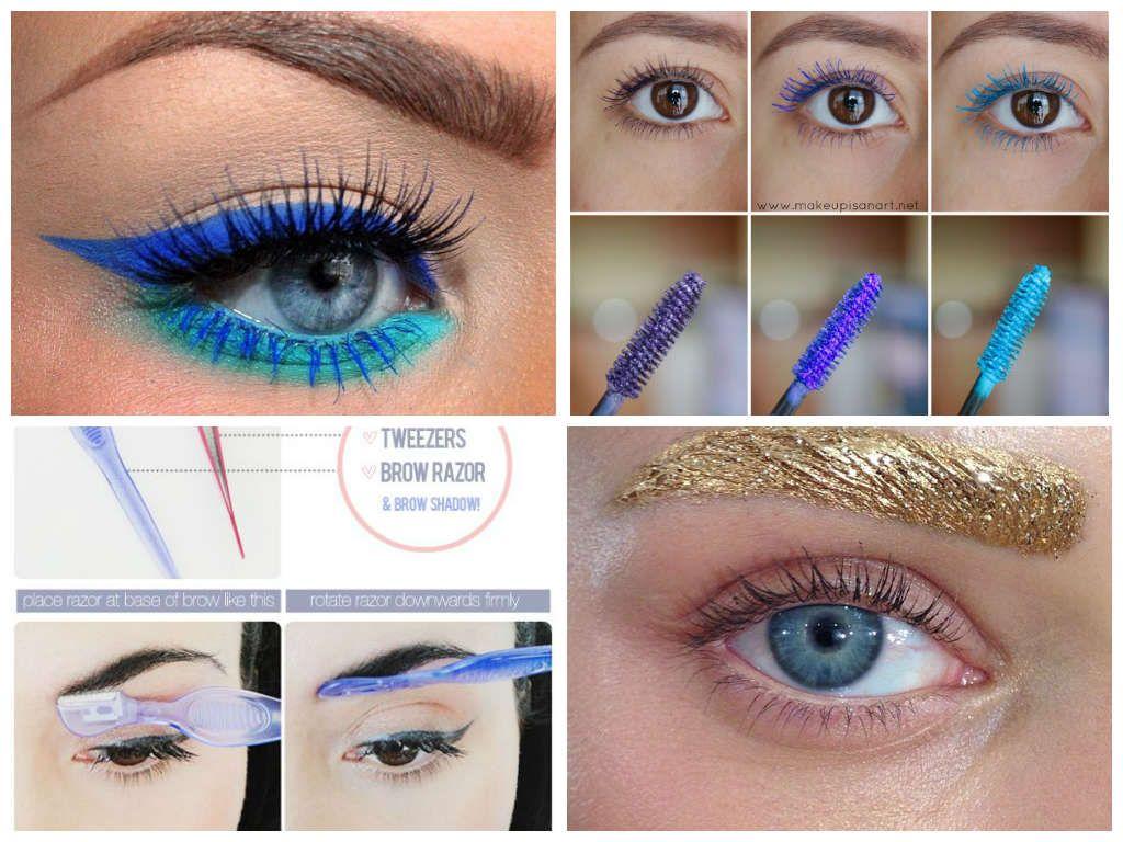 maquillaje de ojos de arcoiris paso a paso - Buscar con Google