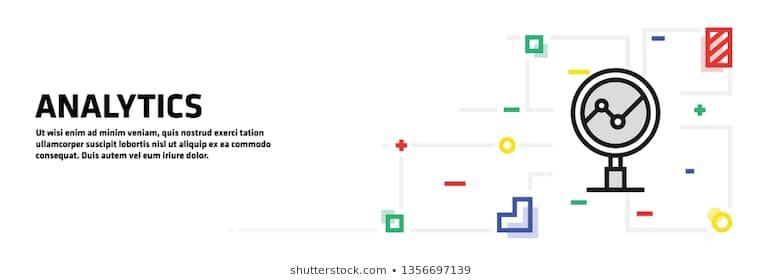 Analytics Banner Concept 3d Abstract Analysis Analytics