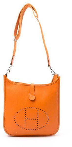 3882dbe98521 HERMES Feu Leather Evelyn 3 Vintage Shoulder Bag - Lyst