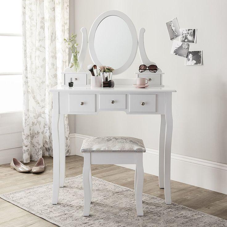 crushed velvet dressing table stool
