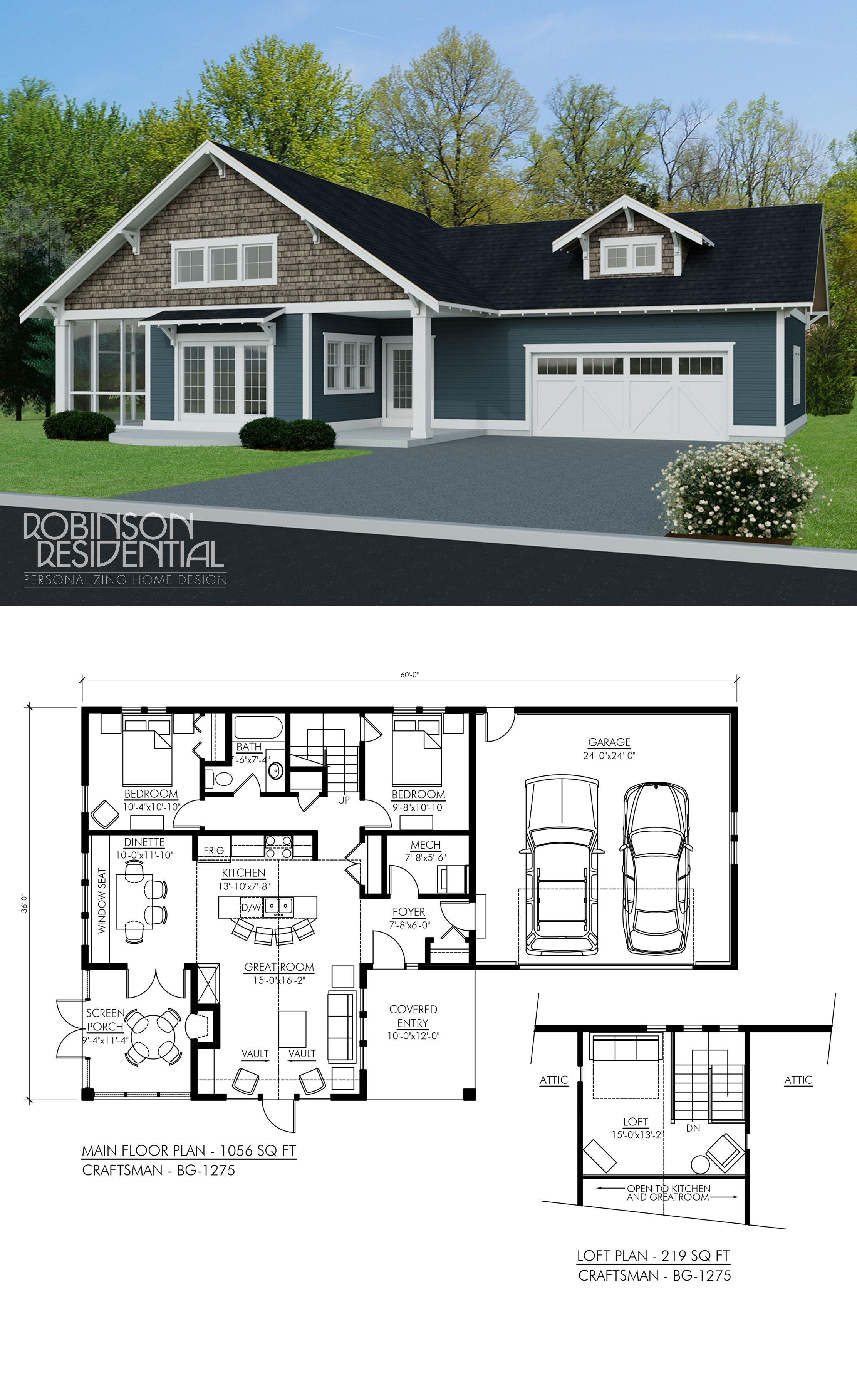 Craftsman House Design Features: Craftsman Home Plans