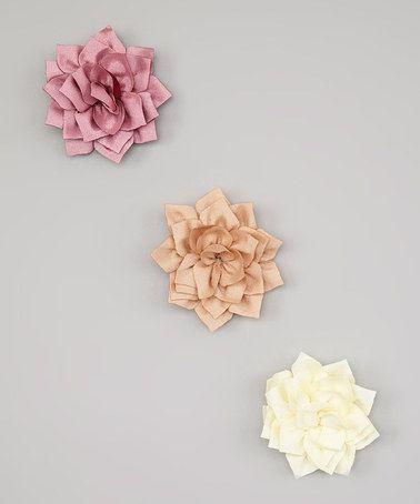 Look what I found on #zulily! Ivory Vintage Flower Hair Clip Set #zulilyfinds
