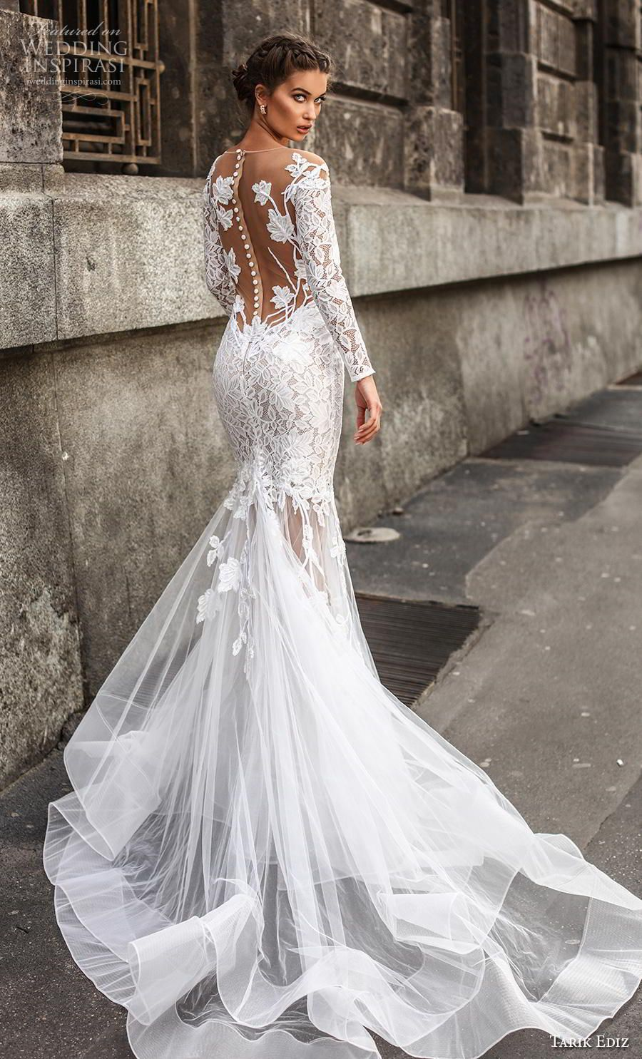 Tarik Ediz 2019 Wedding Dresses White Bridal Collection Wedding Inspirasi Glamourous Wedding Dress Wedding Dresses Bridal Dresses [ 1485 x 900 Pixel ]