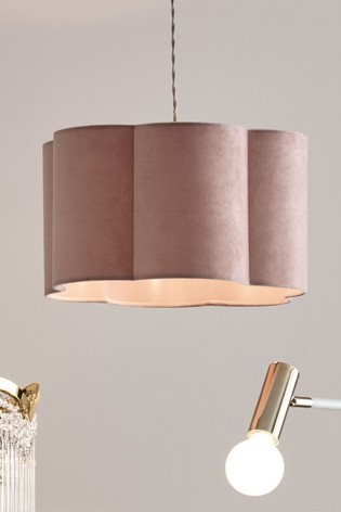 Dahlia Easy Fit Shade Pink Lamp Shade Ceiling Lights Hanging Pendant Lights