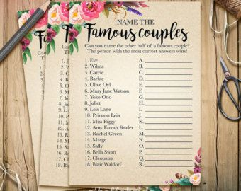 find the guest bridal shower game printable boho bohemian etsy