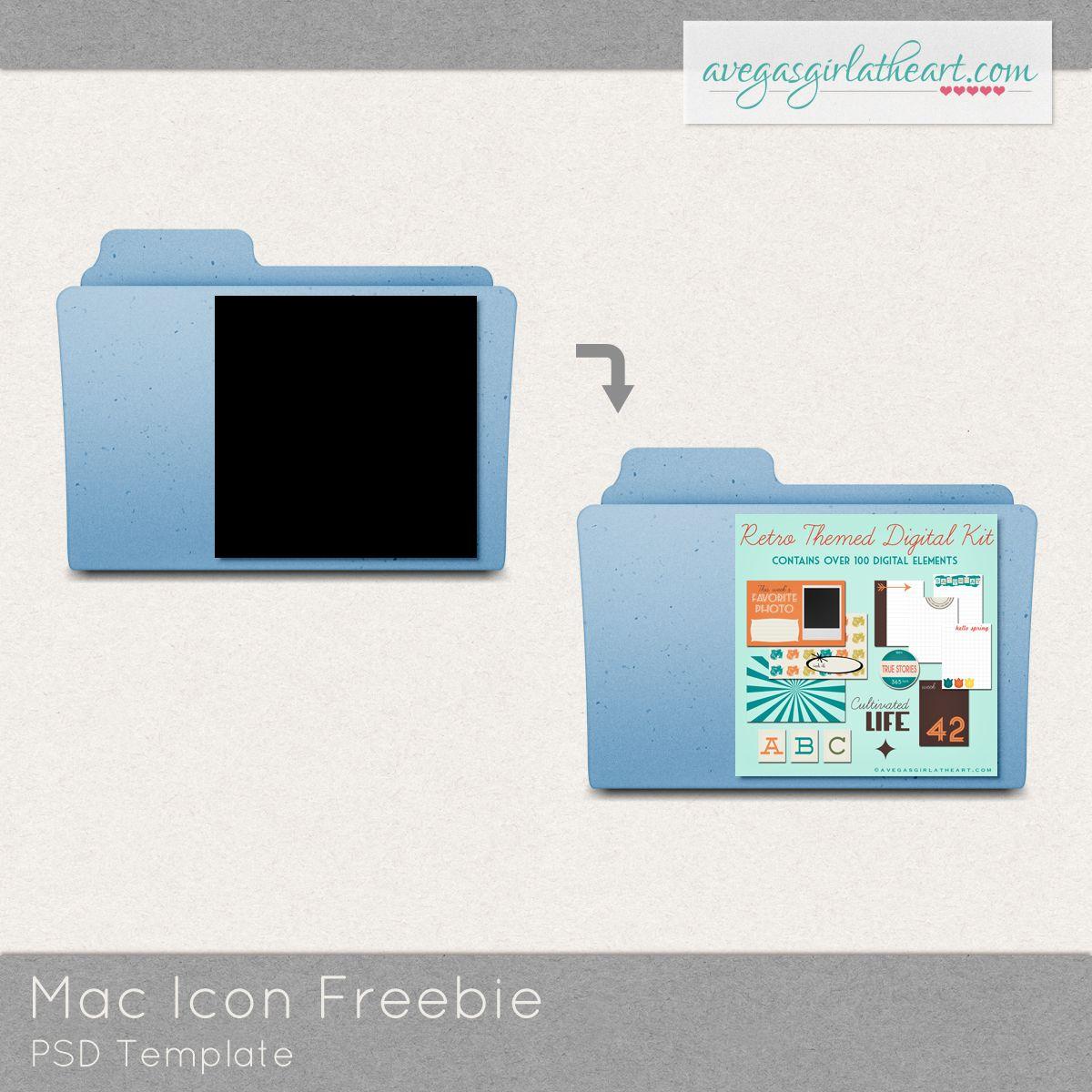 Freebie Mac Folder Icon Template For Organizing Digi Supplies