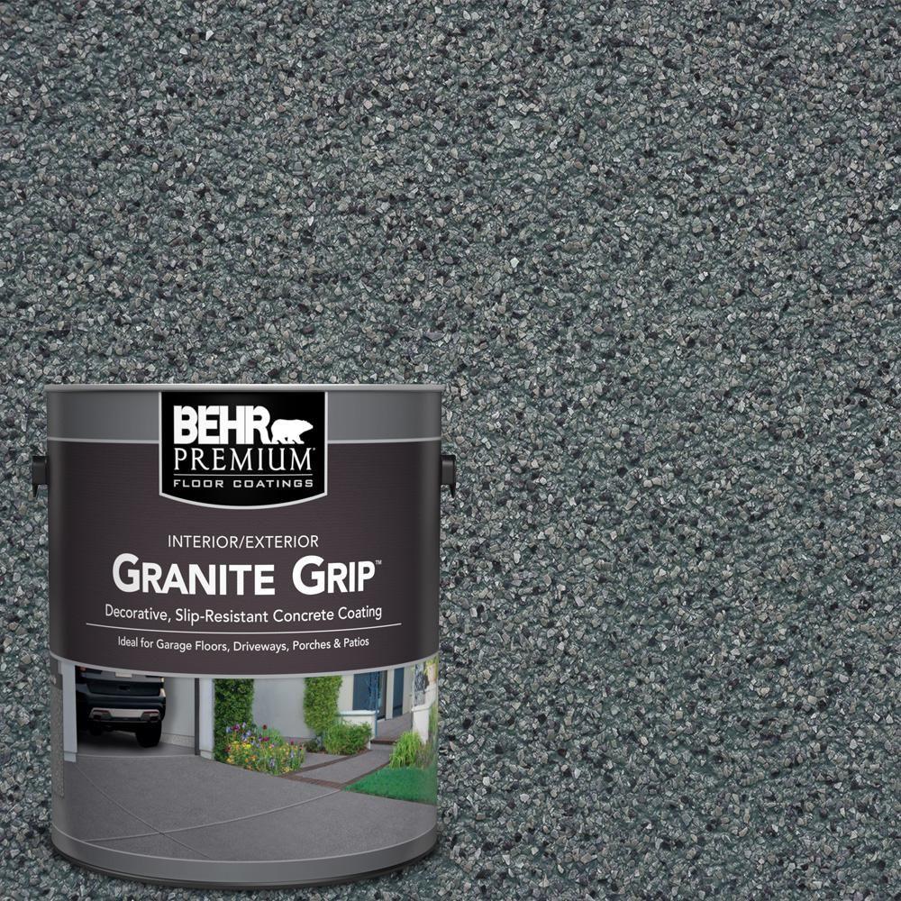 Behr Premium Gal Slate Ivory Decorative Flat Interior Exterior Concrete Floor Coating
