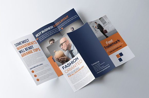 Business Trifold Brochure Brochures Psd Templates And Brochure